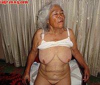 Tired naked granny