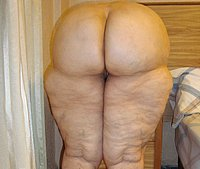 Chubby old woman with big ass