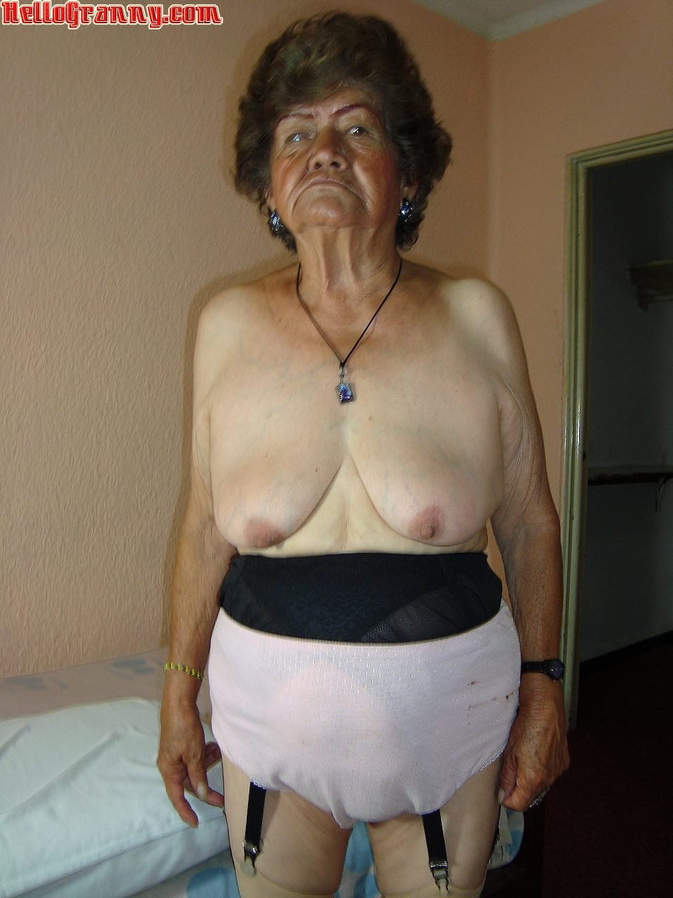Granny in panties and hot twink 6