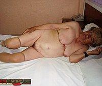 Naked old granny body