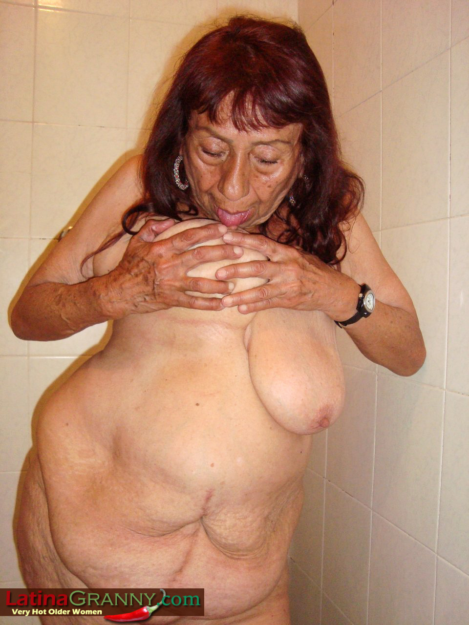 Can Naked grandma with big boobs all