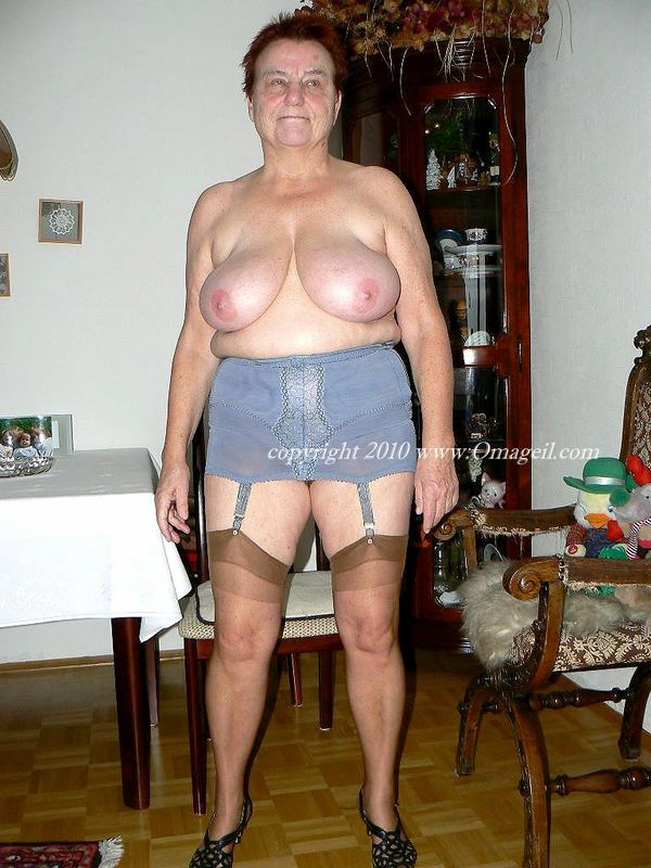 That lingerie grandma nude solved