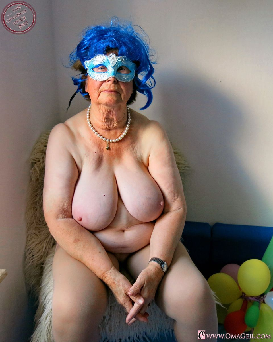 Seems old granny large tits