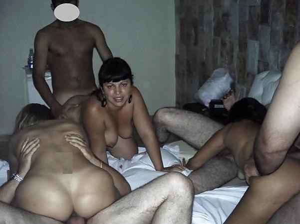 Senior amateur sex orgy
