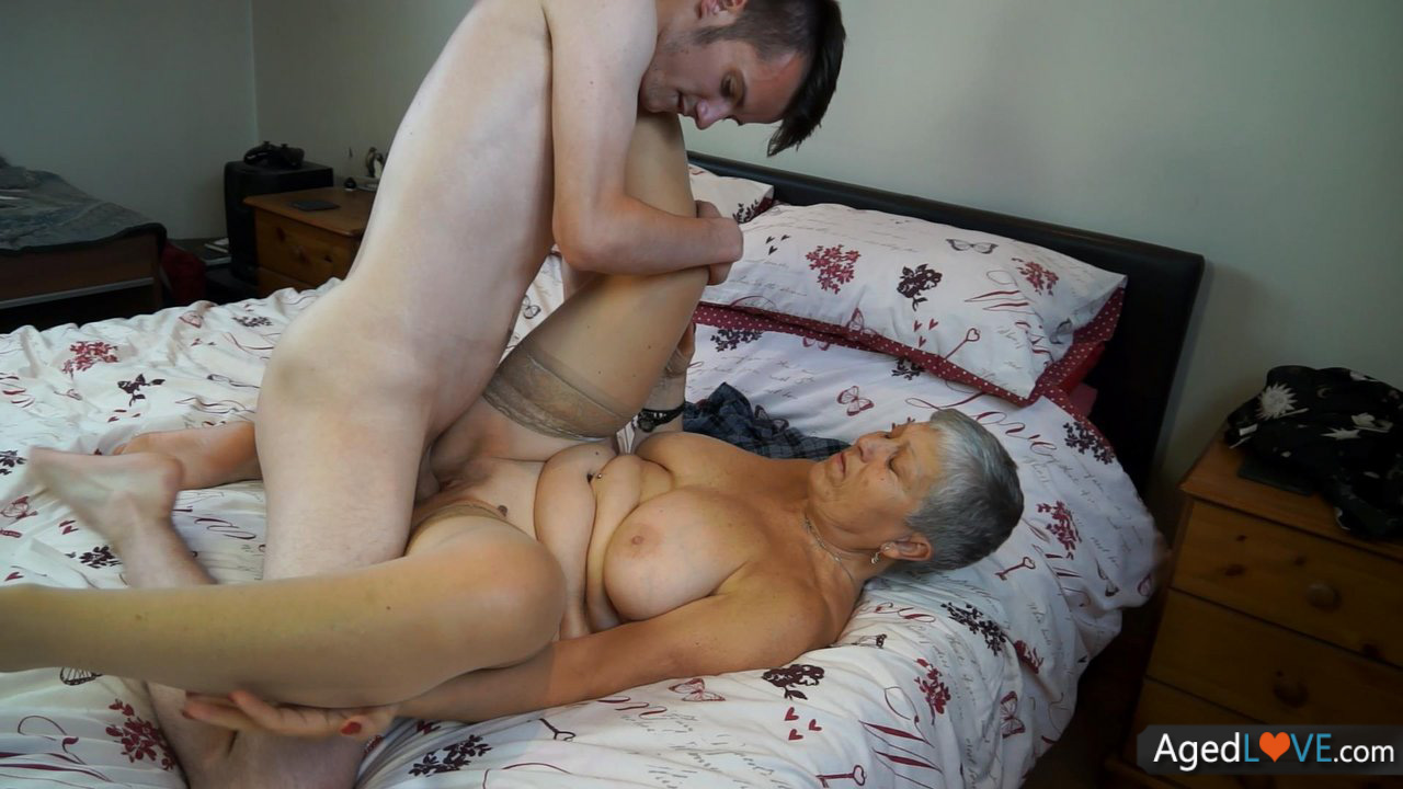 Sexy Granny Cant Sleep Without Some Hard Sex